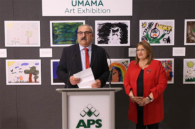 APS Bank's chairman, Frederick Mifsud Bonnici, and H. E. the President of Malta Marie-Louise Coleiro Preca at the UMAMA opening ceremony
