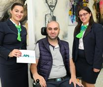 Staff at APS Bank raise money for ALS Malta Foundation
