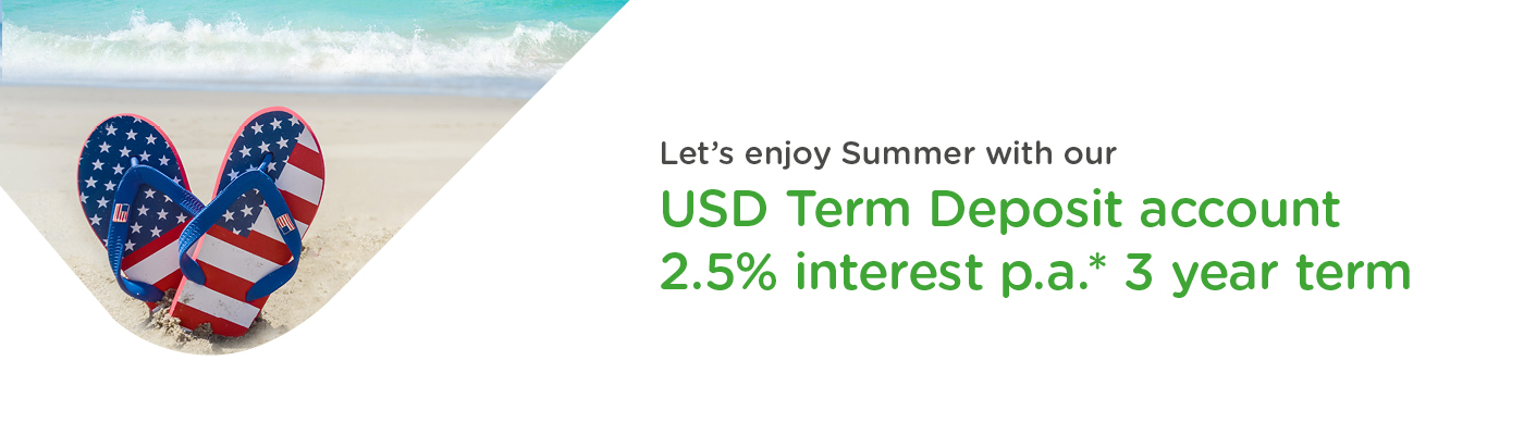 USD Term Deposit account