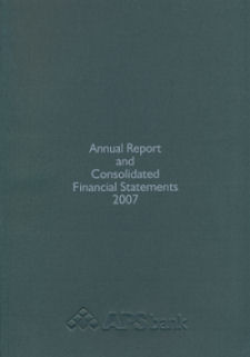 APS Bank Annual Report 2007